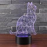 3D Optische Illusions Lampen NHSUNRAY LED 7 Farben Touch-Schalter Ändern Nachtlicht Für...
