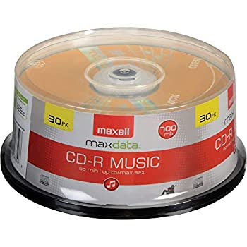 Maxell 625335 High-Sensitivity Recording Layer Recordable CD  Audio Only  700mb/80 min