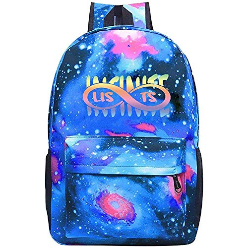 Bolsas Starry Universe Videos Man_Infinite Mochila Impermeable para Niño Niña Mochila Escolar Mochila Mochilas para Niños Jóvenes Azul