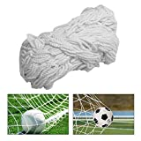 TOPINCN Soccer Net Durable Soccer Goal Nets Sports Replacement for Lacrosse and Soccer (6X4foot,8X6foot,12X6foot,24X8foot)(24X8FT)