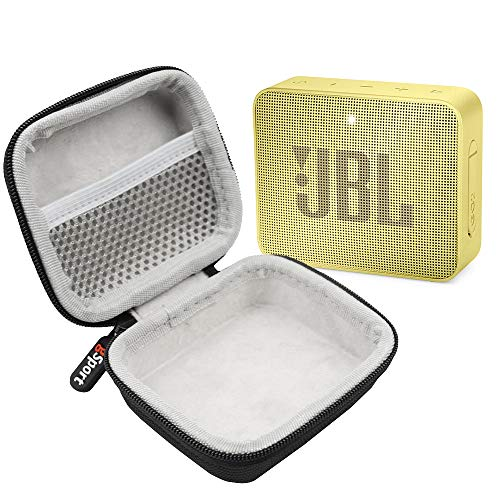 JBL GO 2 IPX7 Waterproof Ultra Portable Bluetooth Speaker Bundle with gSport Deluxe Hardshell Case (Yellow)