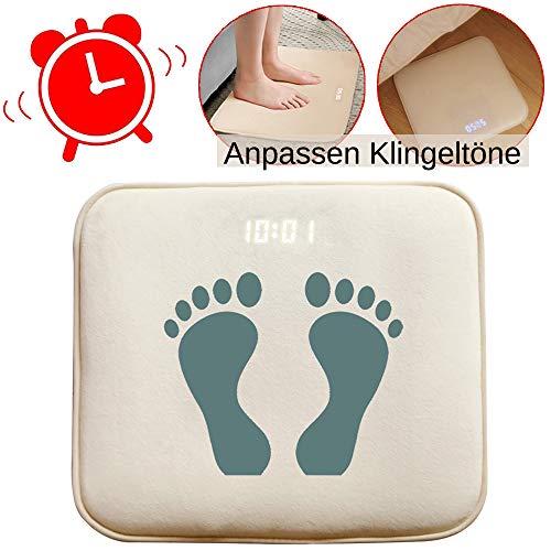 Digitale Wecker Wecker Aufstehen Smart Alarm Bettvorleger Fußmatte Teppich Läufer mit LED Display und individuelle Töne mit USB einfach aufstehen