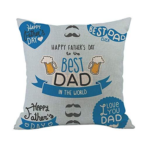 Funda de cojín para el día del padre, funda de almohada cuadrada cómoda para sofá, decoración del hogar, Pascua