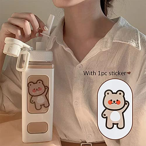 Rongxin Limited Special Price 900ml Portable Square National uniform free shipping Drinking Girl Juice Bottle Te Cute