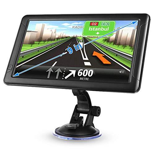 Ashey GPS-Navigation, Windows-System Car Truck Navigator für 9 Zoll 256 MB 8G HD Capacitive Screen Tragbarer GPS Navigator