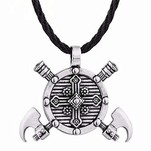 Halskette Männer Kreuz Halskette Punk RockGold Farbe Schmuck Antike Kruzifix Anhänger Kette Schwarzes Seil Hip Hop Style Silber