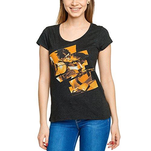 JINX Overwatch Damen T-Shirt Tracer Zum Game Grau - XL