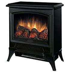 Compact electric stove heater for rooms up to 400 square feet Quiet, fan-forced heater with Hi/Lo settings for even heat distribution; No heat option for visual enjoyment year-round Patented flame technology provides realistic flame effect Uses over ...
