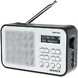 AZATOM Desire X DAB/DAB+ FM Portable Radio Alarm/Battery/Portable/AUX/Headphone & 60 Presets (Black)
