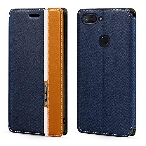 Funda para Xiaomi Mi 8 Lite, funda de cuero con cierre magnético multicolor con tarjetero para Xiaomi Mi 8 Youth (6.2 pulgadas)