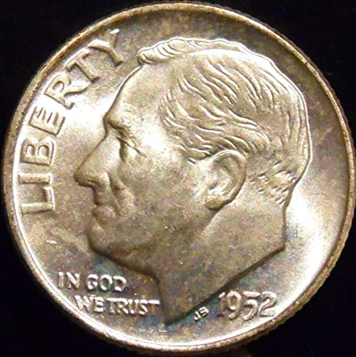 1952 D Silver Roosevelt Dime - Mint State - Exceptional Quality - Gem Brilliant Uncirculated - US Mint