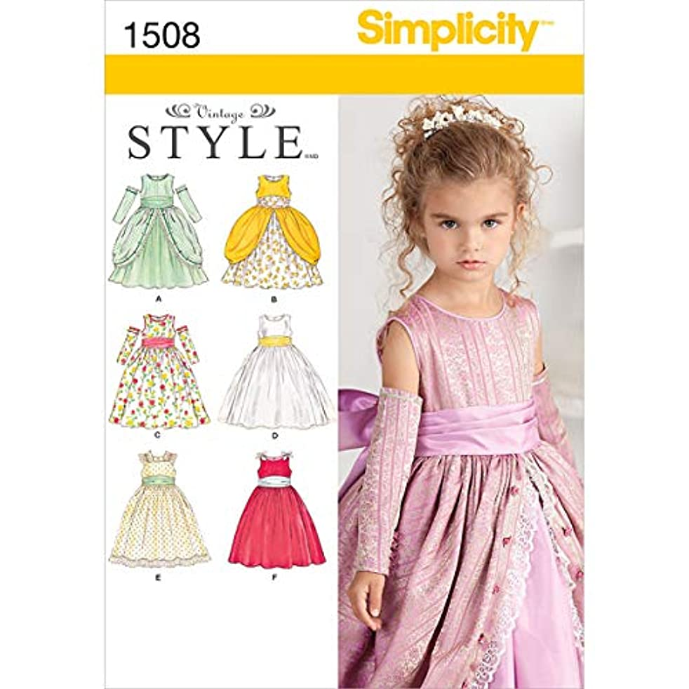 Simplicity 1508 Child's Special Occasion Dress A (4-5-6-7-8)