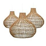 Set 3 Lámparas de Techo Tuan Natural 7hSevenOn Deco