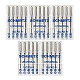25 agujas universales para máquina de coser Schmetz 130/705H 15 x 1H tamaños 70/10, 80/12, 90/14