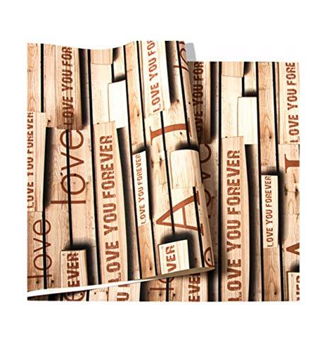 Multi-wallpaper retro nostalgische zolder Engelse alfabet Woodgrain behang bar koffie kledingwinkel achtergrond wand industriële stijl bruin