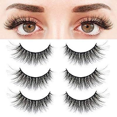 Amazon - 55% Off on  3 Pairs False Eyelashes, Prefect 3D Effect Fake Eyelashes, Synthetic Fiber Material