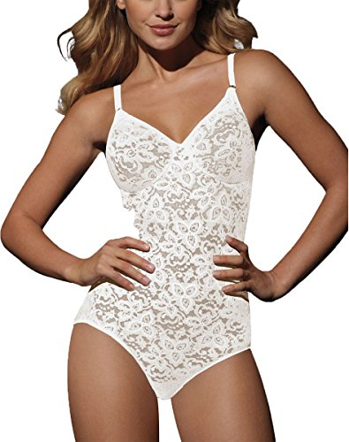 Bali Lace `N Smooth Women`s Firm Control Body Briefer White