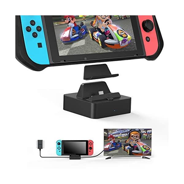 Vivefox Switch TV Dock(Case Friendly), Aluminum Portable Switch Docking Station HDMI...