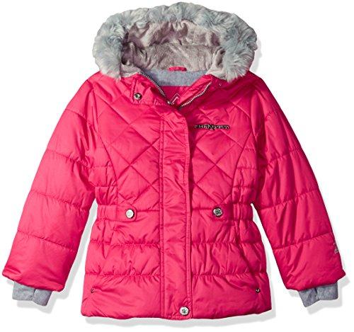 ZeroXposur Little Lexy Jvi Girls Puffer Jacket, Cerise, Small