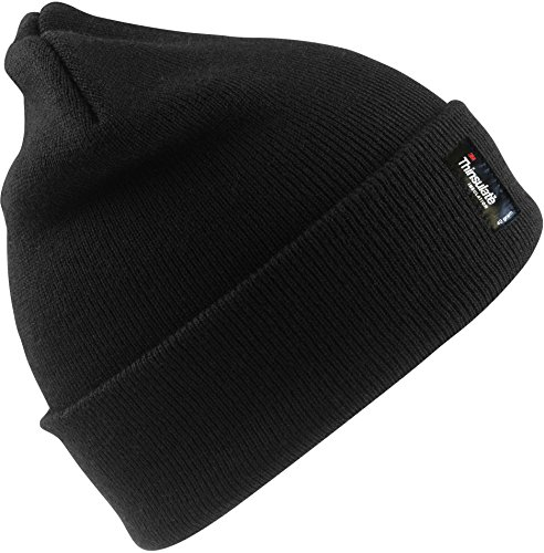 Result Rc033 Thinsulate Chapeau de Ski Taille Unique Casquette Noire.