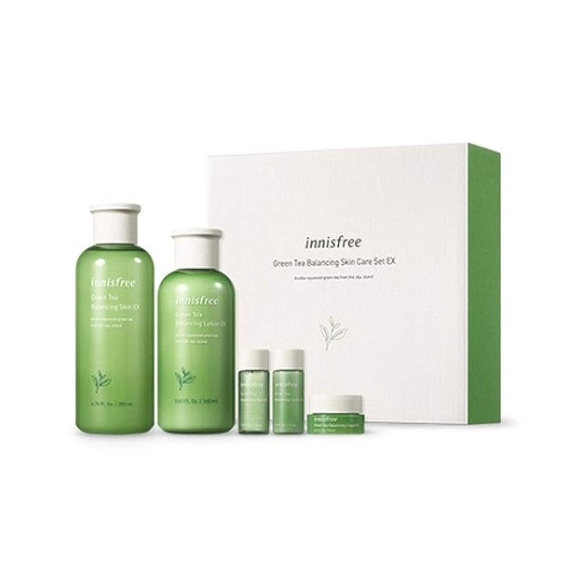 腹痛手紙を書く逆さまにイニスフリーグリーンティーバランシングスキンケアセットの水分ケア韓国コスメ、innisfree Green Tea Balancing Skin Care Set Korean Cosmetics [並行輸入品]