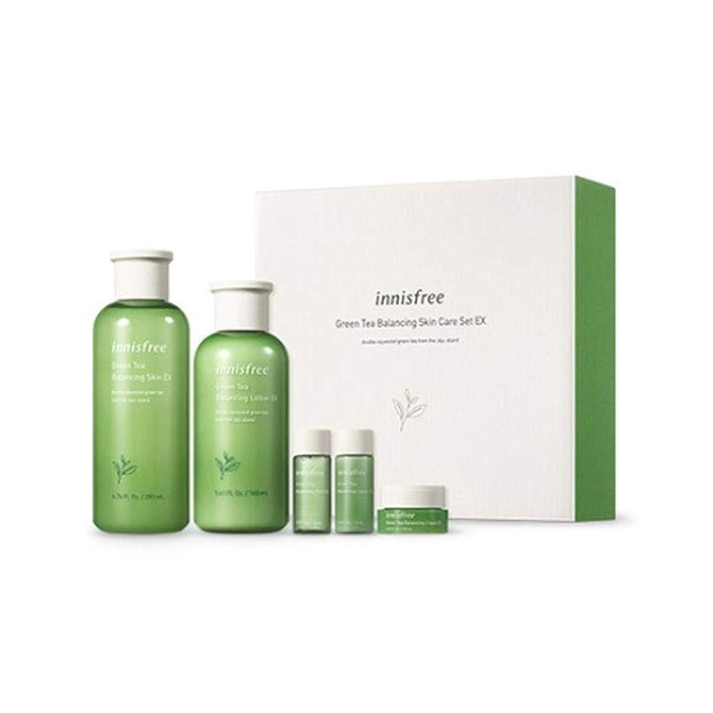 石灰岩通常疑問を超えてイニスフリーグリーンティーバランシングスキンケアセットの水分ケア韓国コスメ、innisfree Green Tea Balancing Skin Care Set Korean Cosmetics [並行輸入品]