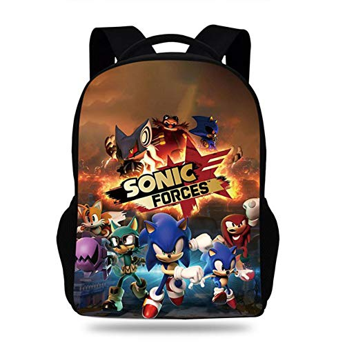 Sonic The Hedgehog 3D Laptop Backpack, with USB Charging Port, Casual Mesh Backpack Unisex Dual Use, Absolute Backpack,1