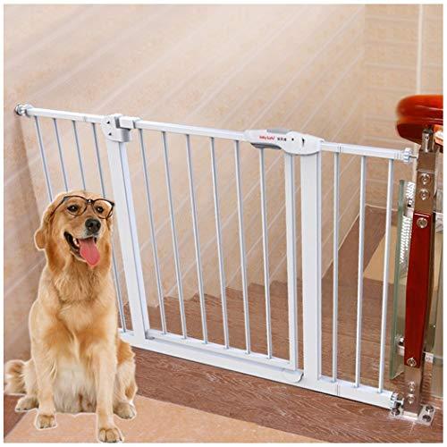 Baby Gate Dog Fence Baby Gate Pressure Mount Isolation Large And Medium Dog Anti-dog Baby Child Safety Gate (Color : White, Size : 145-155cm)