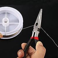 ManYee Kit Creazione Gioielli Principiante I Kit di Accessori di Gioielli Include Pinza, Pinzette, Metro A nastro,DIY per artigianato,come collane, orecchini, bracciali e altro,argento #6