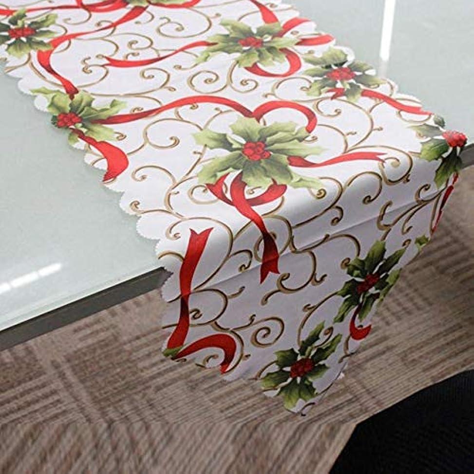 管理者ヒント反乱WTYD ホームテキスタイル 2ピース36×180センチクリスマステーブルテーブルクロスホームパーティーの装飾サンタクロースタペストリー赤 家庭用