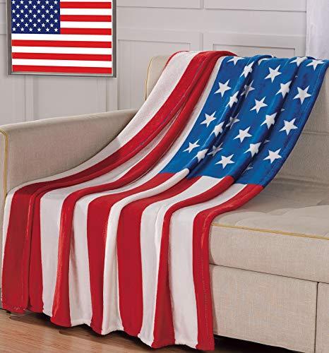 Decke mit großer amerikanischer Flagge, 127 x 178 cm