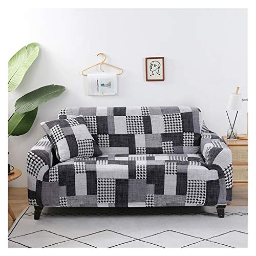 NEWRX Cubierta de sofá elástica del sofá del sofá del Modelo de la geometría para la Sala de Estar Moderna seccional Sofá Sofá Sillón Sillón de Toalla Cubierta 1pc