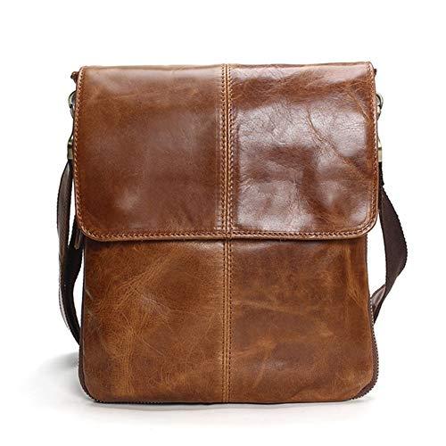 D Messenger-Taschen for Männer Tauren echten Leder Schultertasche Herren-Ledertasche Marke Beiläufiges Geschäfts-Herren-Beutel-Qualität neuen Mens Travel Bag Umhängetasche