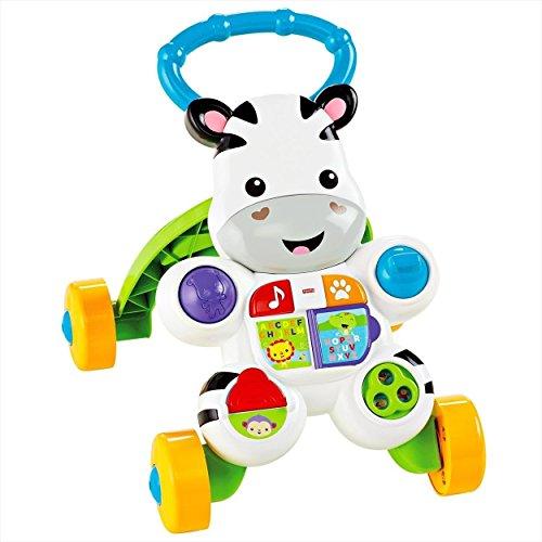 Fisher-Price Mon Trotteur Zèbre pour apprendre à marcher avec musique et activités d'éveil, pour bébé de 6 mois et plus, DLD80