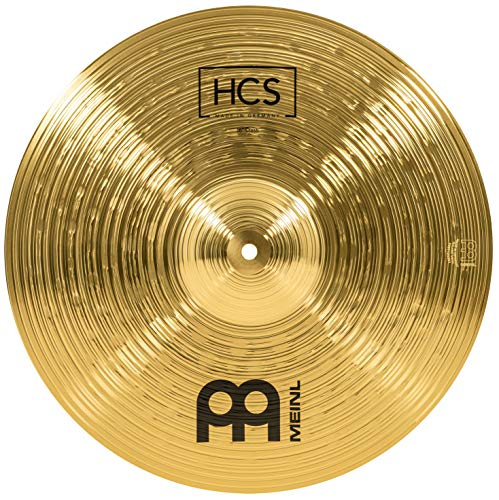 Meinl Cymbals HCS 16 Zoll Crash Becken für Schlagzeug – Messing, traditionelles Finish (HCS16C)