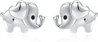 Elephant Earrings Hypoallergenic 925 Sterling Silver Earrings or Necklace for Women Nickel Free for Sensitive Ears
