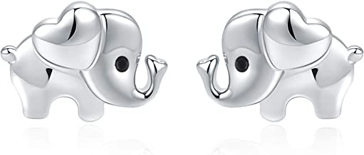 Elephant Earrings Hypoallergenic 925 Sterling Silver Earrings or Necklace for Women Nickel Free for Sensitive Ears