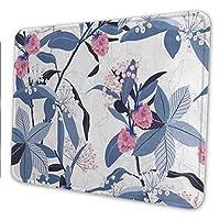 マウスパッド ゲーミングマウスパッド-花の花葉春夏 滑り止め デスクマット 水洗い 25x30cm