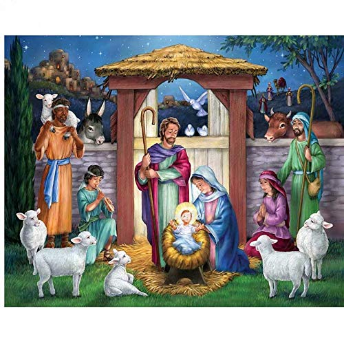 Puzzle 1000 piezas Santo pesebre arte imagen religiosa puzzle 1000 piezas Rompecabezas de juguete de descompresión intelectual educativo divertido juego familiar para niños ad50x75cm(20x30inch