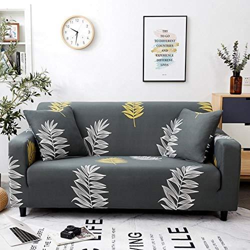 Funda de sofá gris Fundas de muebles elásticas Fundas de sofá elásticas para sala de estar Funda de asiento con funda deslizante funda de asiento de spandex sofá de 1-4 plazas, color 13,4-plazas (235
