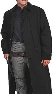 Rangewear By Scully Men`s Long Canvas Duster - Rw107 Walnut