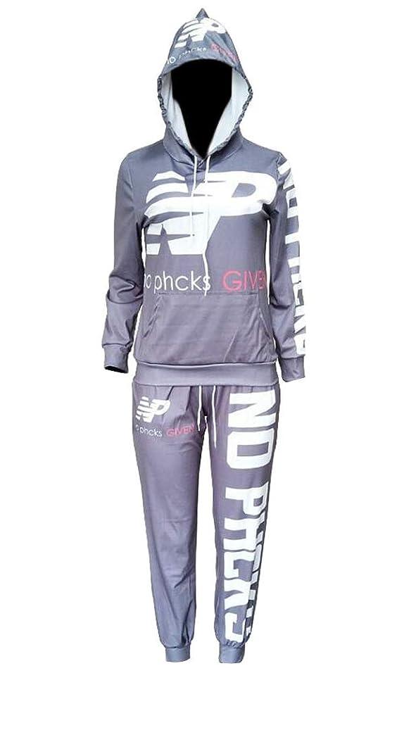 訴える漏斗ビルマレディース2ピース服装長袖スウェットシャツパンツトラックスーツ