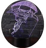 Ray-Velocity 3D Lámpara LED luz de la Noche 7 Cambiar el Color Botón Táctil Regalo de Navidad para e...