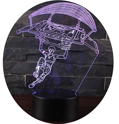 Ray-Velocity 3D Lámpara LED luz de la Noche 7 Cambiar el Color Botón Táctil Regalo de para el Hogar Decoración para Niños