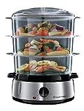 Russell Hobbs Cook@Home 19270-56 - Vaporera, 800 W, Cocina Lenta, Sin BPA, Acero Inox, Capacidad para 9 L