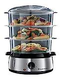 Russell Hobbs 19270-56 Cook@Home - Vaporera, 800 W, Cocina Lenta, Sin BPA, Acero Inoxidable, Capacidad para 9 litros