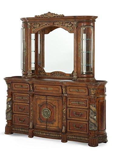 Michael Amini Villa Valencia Dresser Mirror, Classic Chestnut