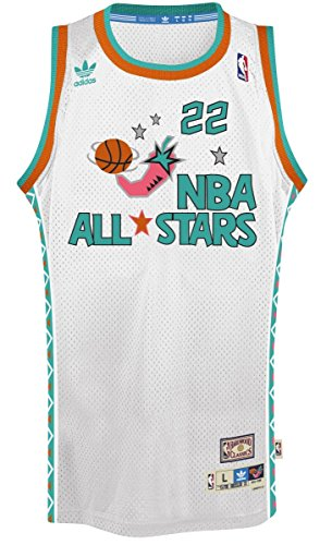 Portland Trail Blazers Clyde Drexler 1996 All Star Adidas Swingman Jersey (Large)