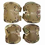 Airsoft SWAT X-Cap Airsoft Paintball Knee & Elbow Pads Desert CP