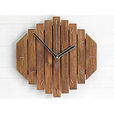 Romb III, wooden wall clock, wall clock, geometric wall clock, minimal office clock, simple design clock, living room clock, old, rustic